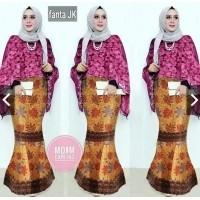 IndonesiaHeritage Setelan Kebaya Pesta Modern Cape Brukat batwing + Rok batik  pesta Wanita duyung - Kebaya 0323a13c36