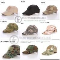 Topi army tactical velcro hat military airsofter cap import Topi Kepala Topi  Topi b454cd7925