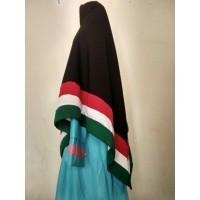 Jilbab segiempat palestin 2 sisi Size M bendera palestina khimar Palestine  bergo syari krudung (470581559 1d16e3b069