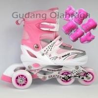 Sepatu Roda BAJAJ + Deker   Pelindung Inline Skate Satu Set New (327663219) e3c99aa366