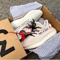 Sepatu Sneakers Yeezy V2 Boost 350 x Off White Cream Premium (476573199) 69313438f7