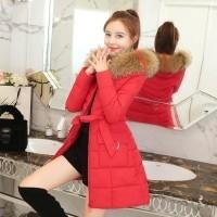 Bulu Imitasi Parka Wanita Jaket Bulu Angsa Baru Jaket Musim Dingin Tebal  Pakaian Salju Musim Dingin 7dac85b14e